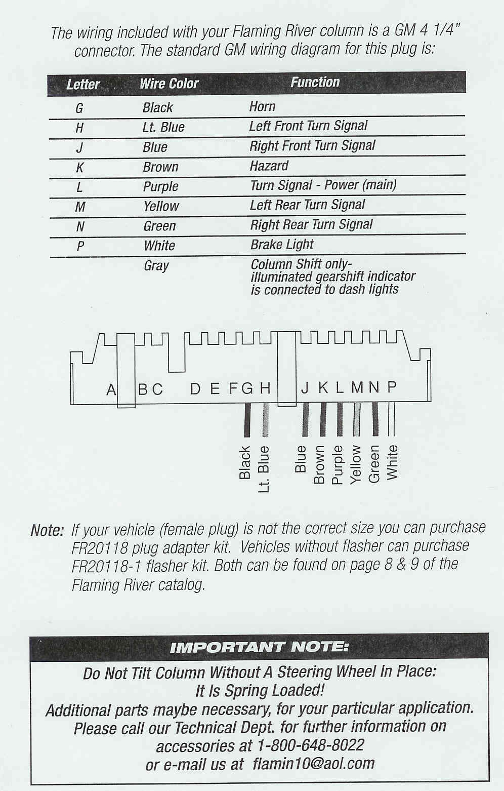 Custom Wiring Diagram - Chevy Steering Column Wiring Diagram