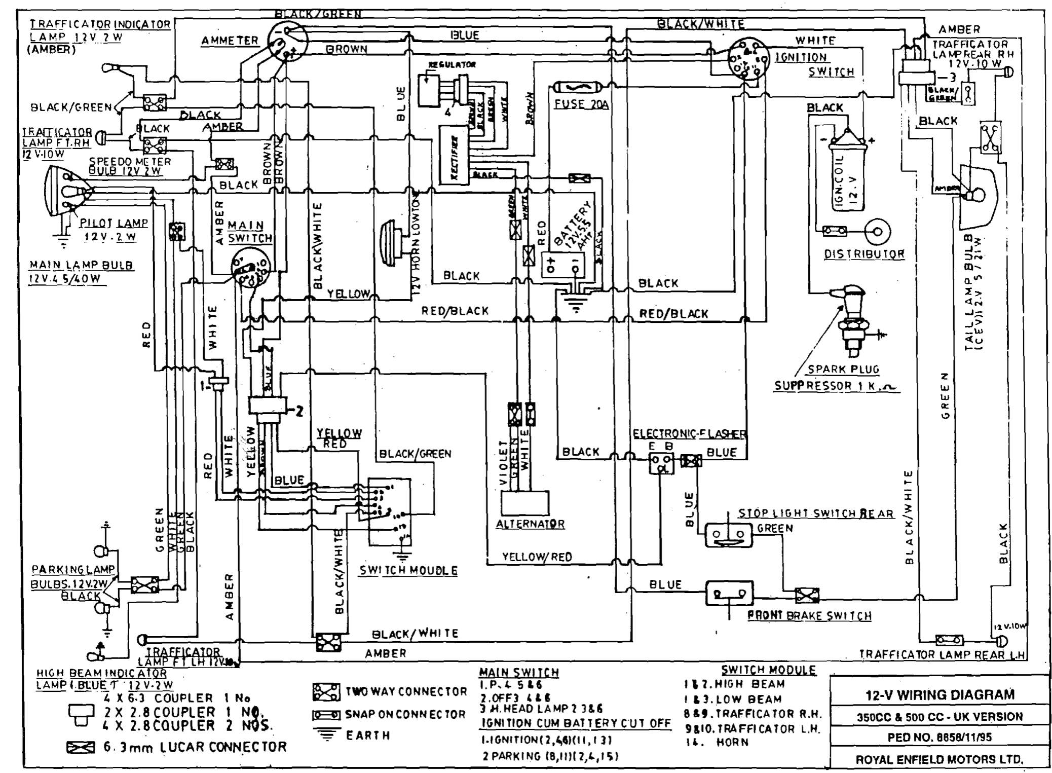 """Dan's Motorcycle """"various Wiring Systems And Diagrams"""" - 12 Volt Wiring Diagram"""