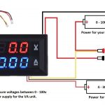 Dc 100V 10A Voltmeter Ammeter Blue + Red Led Amp Dual Digital Volt   Digital Volt Amp Meter Wiring Diagram