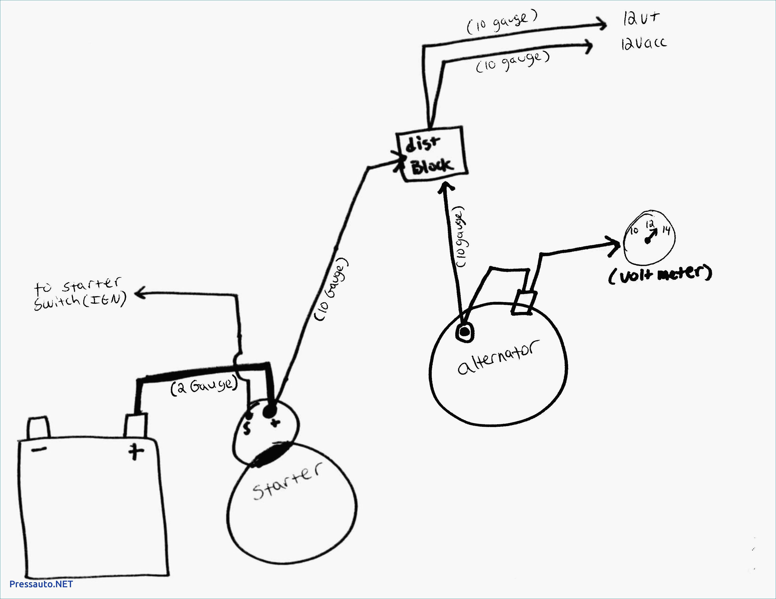 Delco 3 Wire Alternator Wiring Diagram Simple Alternator Wiring - Simple Alternator Wiring Diagram
