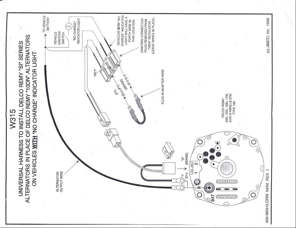 Delco Remy External Voltage Regulator Wiring Diagram   Wiring Diagram - Delco 10Si Alternator Wiring Diagram