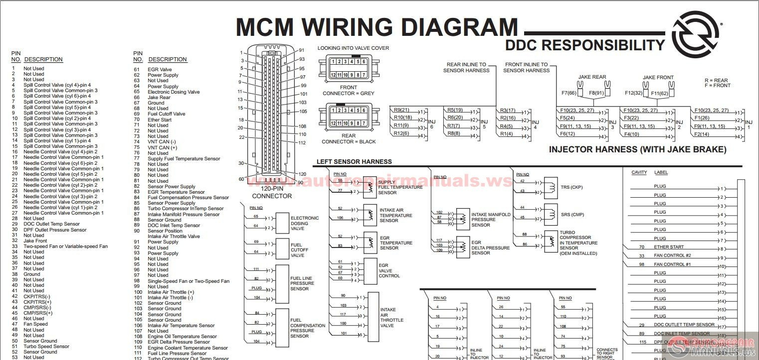 Detroit Series 60 Ecm Wiring Diagram | Manual E-Books - Detroit Series 60 Ecm Wiring Diagram