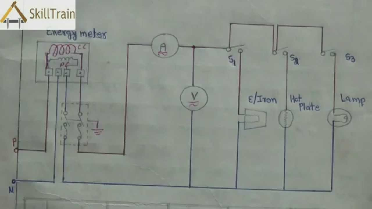 Diagammatic Representation Of Simple House Wiring (Hindi - Basic House Wiring Diagram