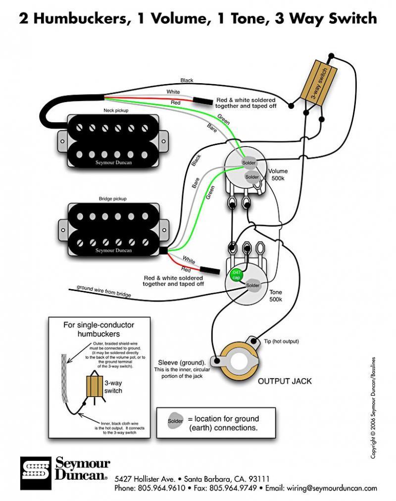 Dimarzio Single Coil Wiring Diagram | Manual E-Books - Dimarzio Wiring Diagram
