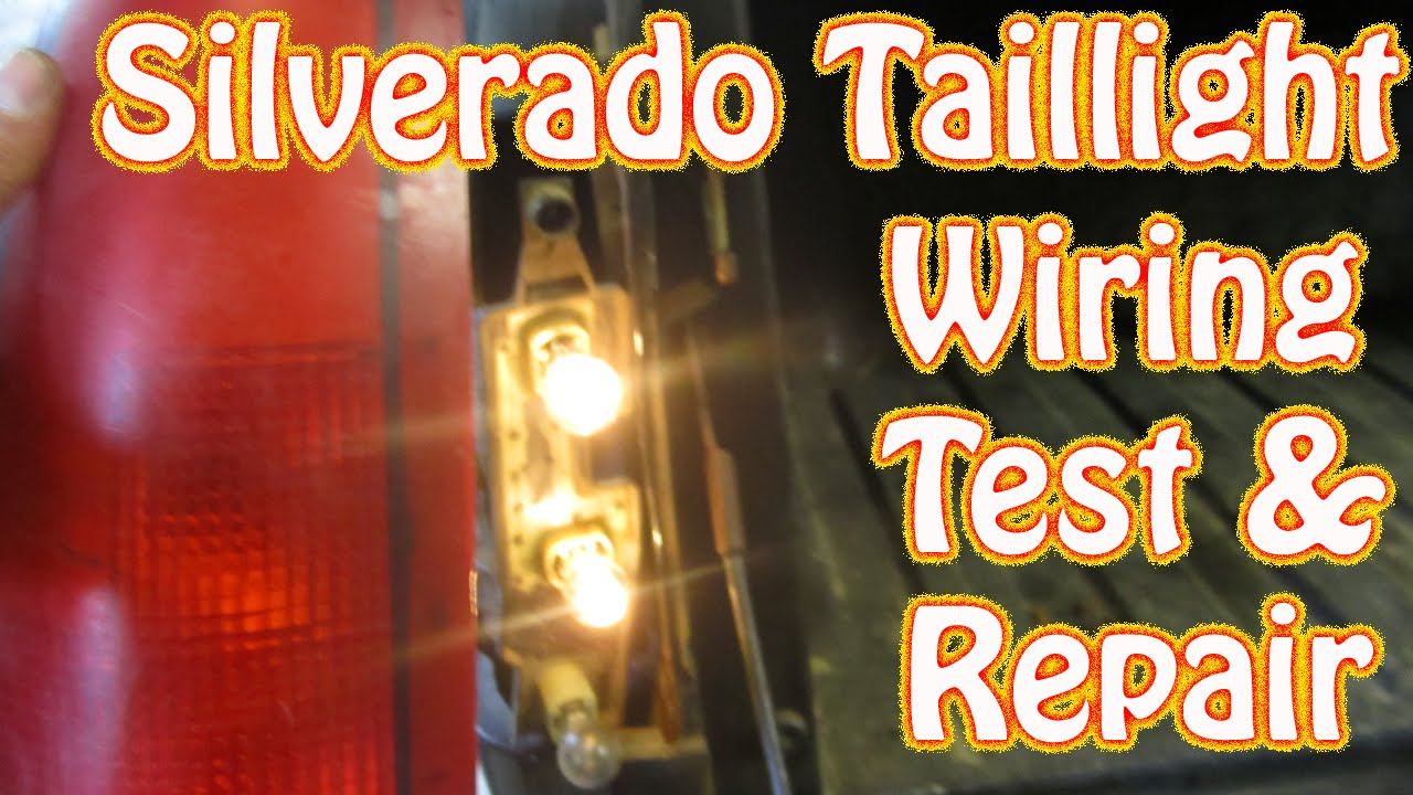 Diy Chevy Silverado Gmc Sierra Taillight Repair How To Test And - Tail Light Wiring Diagram 1995 Chevy Truck