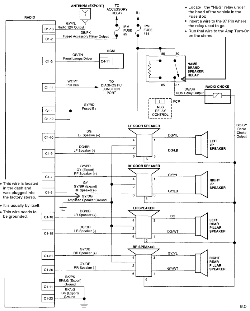 2003 Gmc Yukon Stereo Wiring Diagram