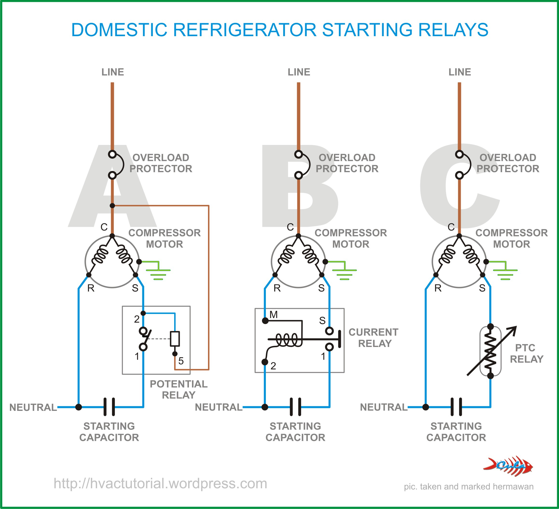 Domestic Refrigerator Starting Relays | Hermawan's Blog - Refrigerator Start Relay Wiring Diagram