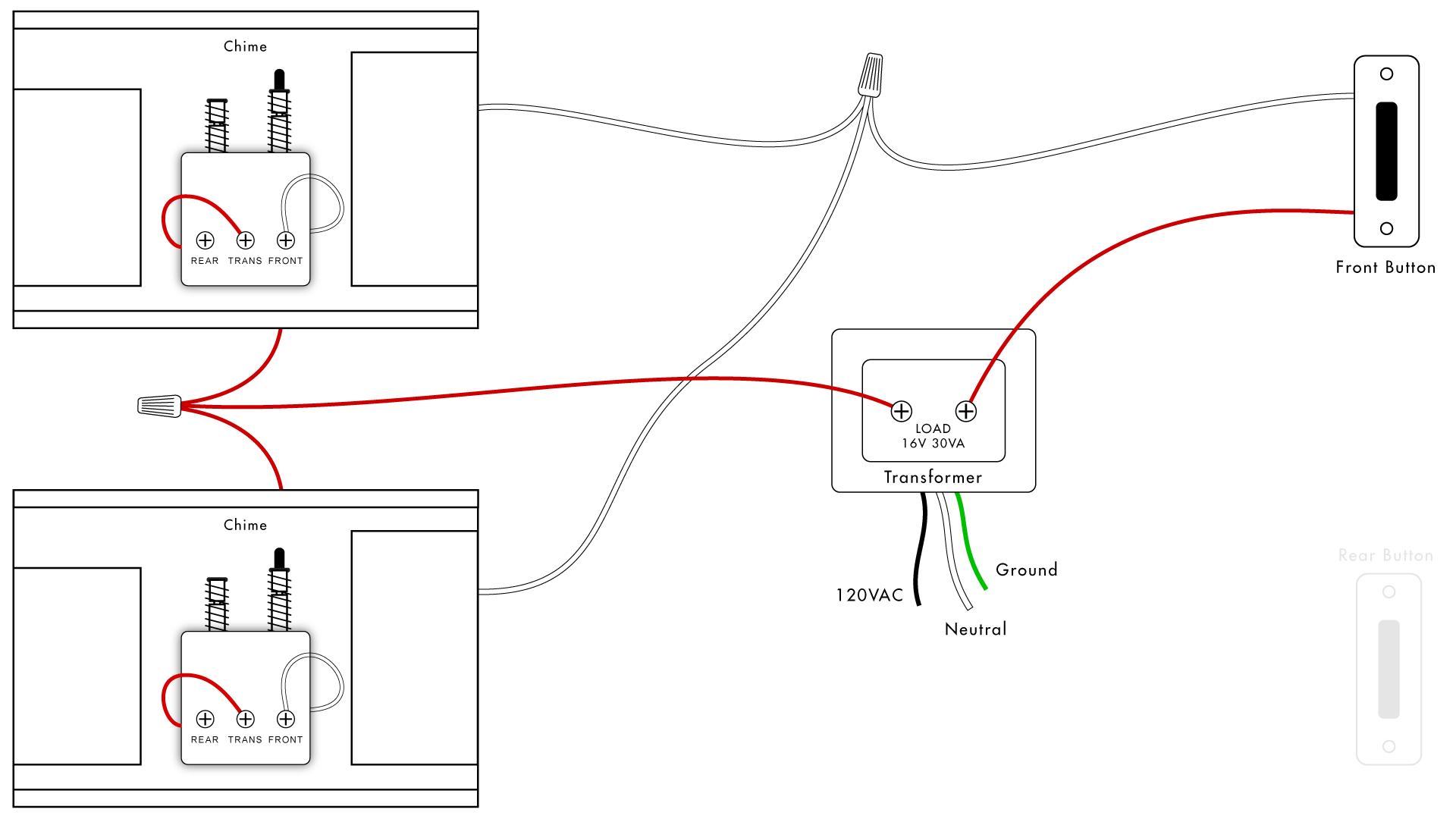 Doorbell Wiring Diagrams   Diy House Help - Doorbell Wiring Diagram