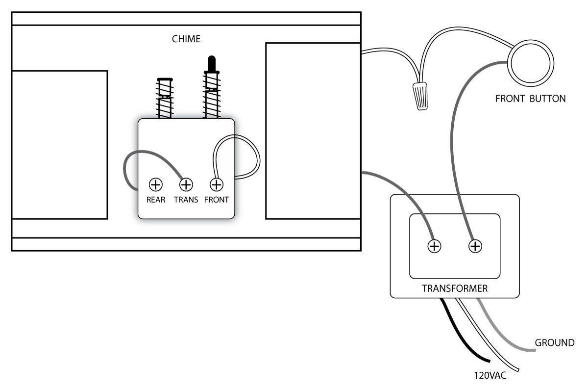 Doorbell Wiring Diagrams | For The Home | Doorbell Button, Bedroom - Doorbell Wiring Diagram Tutorial