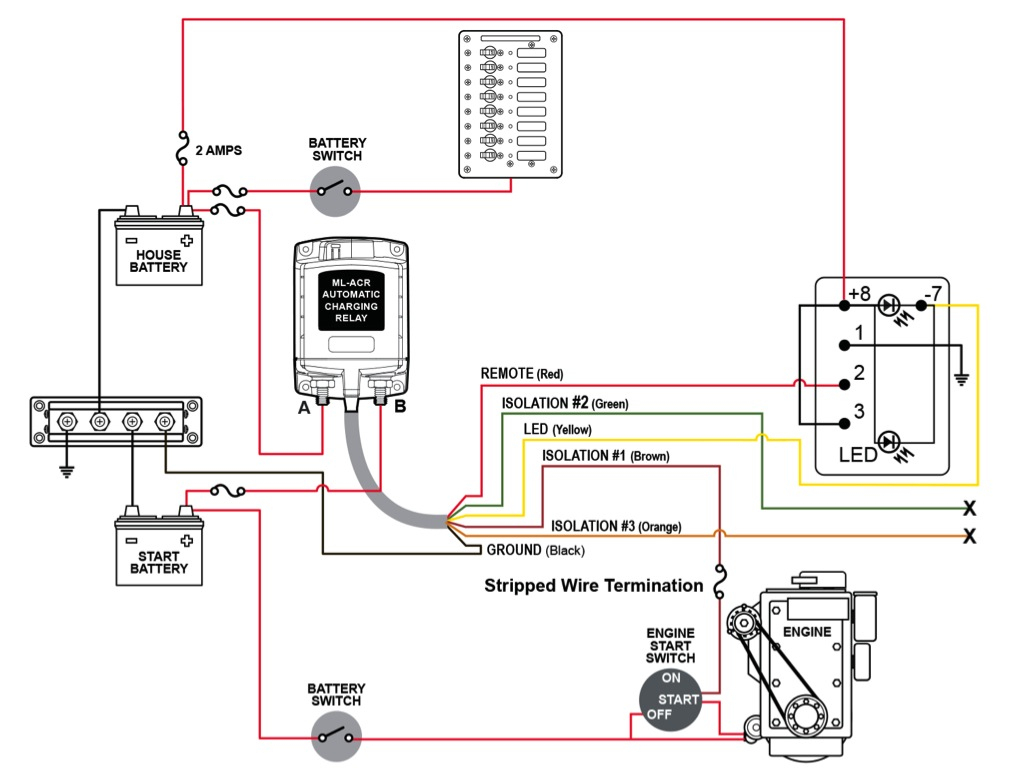 Dual Battery Wiring And Isolation Using 7622 - Toyota Fj Cruiser Forum - Battery Wiring Diagram