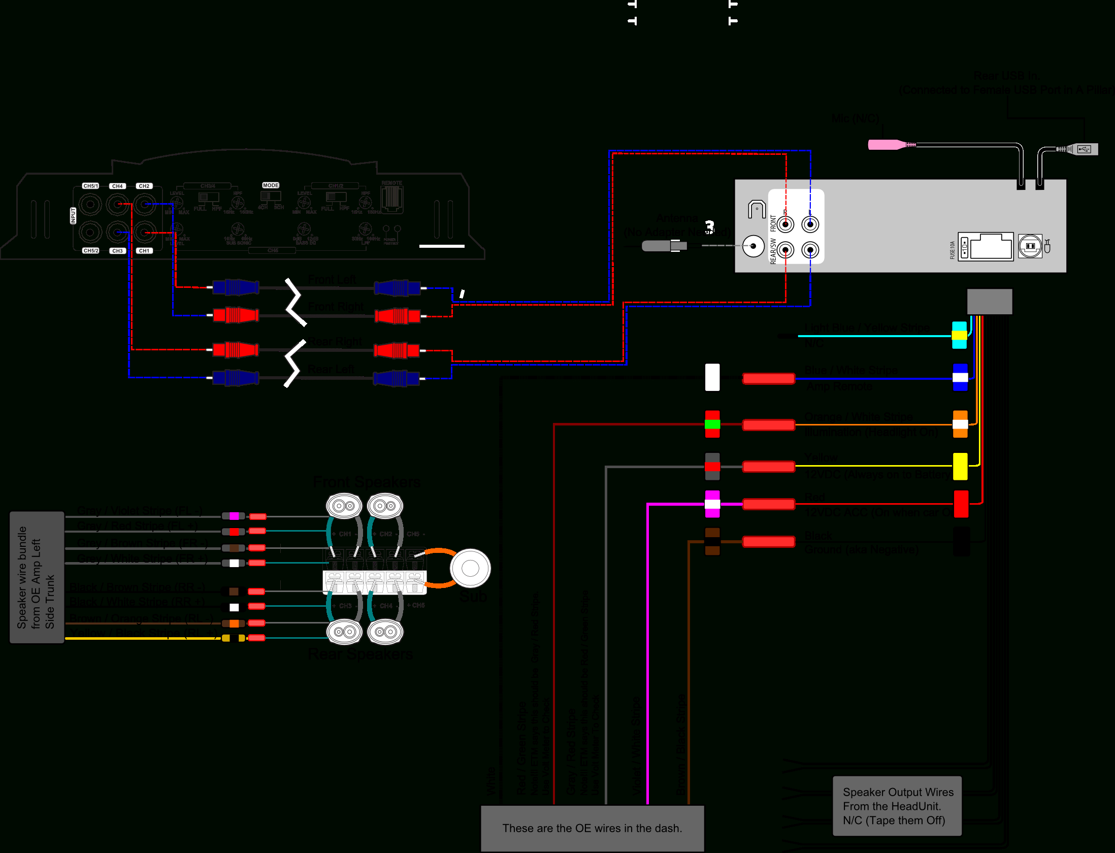 Dual Radio Wiring Diagram - Allove - Dual Radio Wiring Diagram