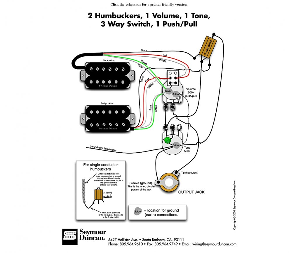Duncan Wiring Diagram - Data Wiring Diagram Schematic - Les Paul Wiring Diagram