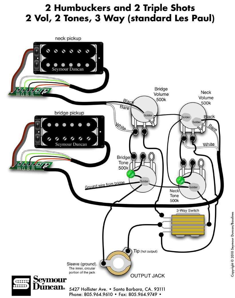 Duncan Wiring Diagram Les Paul | Wiring Library - Les Paul Wiring Diagram