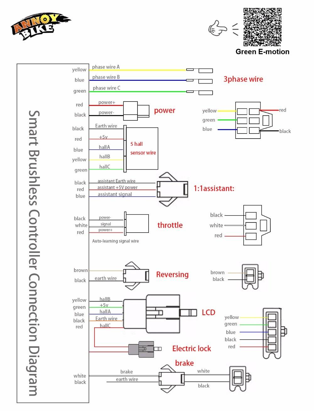 E Bike Wiring Diagrams | Manual E-Books - E Bike Controller Wiring Diagram