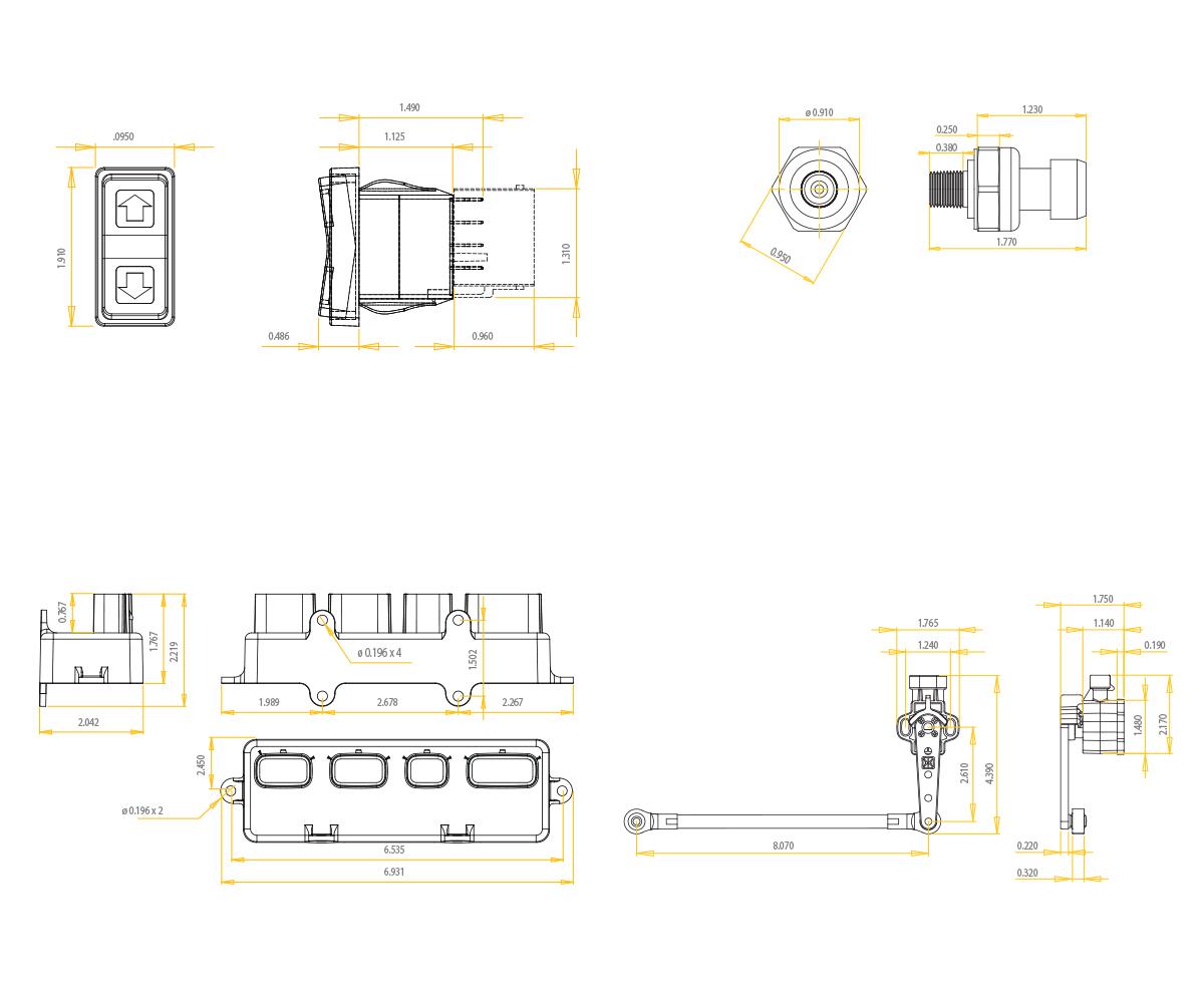 E-Level Controller W/ Rocker Switch - Accuair Suspension - Carling Rocker Switch Wiring Diagram