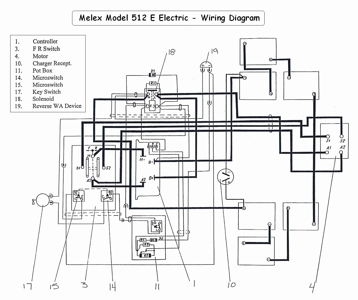 48 Volt Golf Cart Battery Wiring Diagram | Wiring Diagram