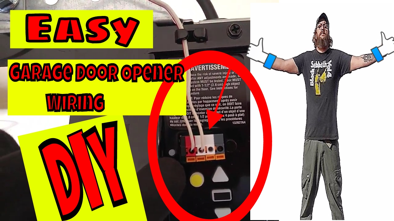 ✅Wiring A Chamberlain Garage Door Opener - Youtube - Chamberlain Garage Door Opener Wiring Diagram
