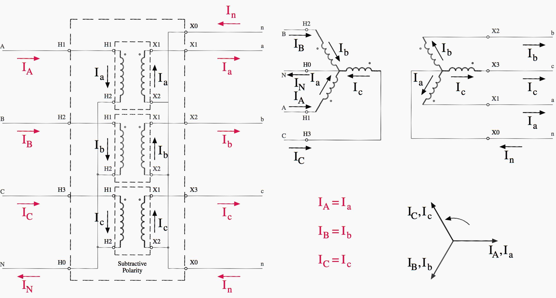 Easy Understanding Of 3-Phase Transformer Connections (Delta–Delta - 3 Phase Transformer Wiring Diagram