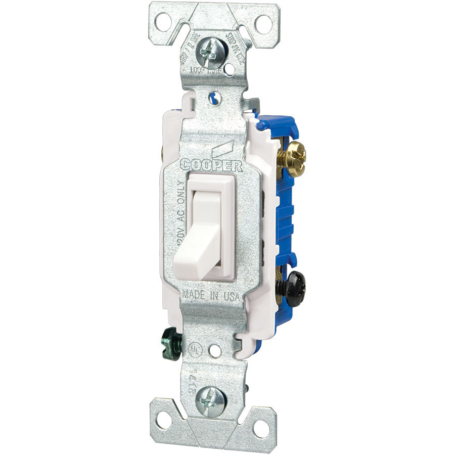 Eaton 15-Amp 3-Way White Toggle Light Switch At Lowes - 3 Way Light Switch Wiring Diagram