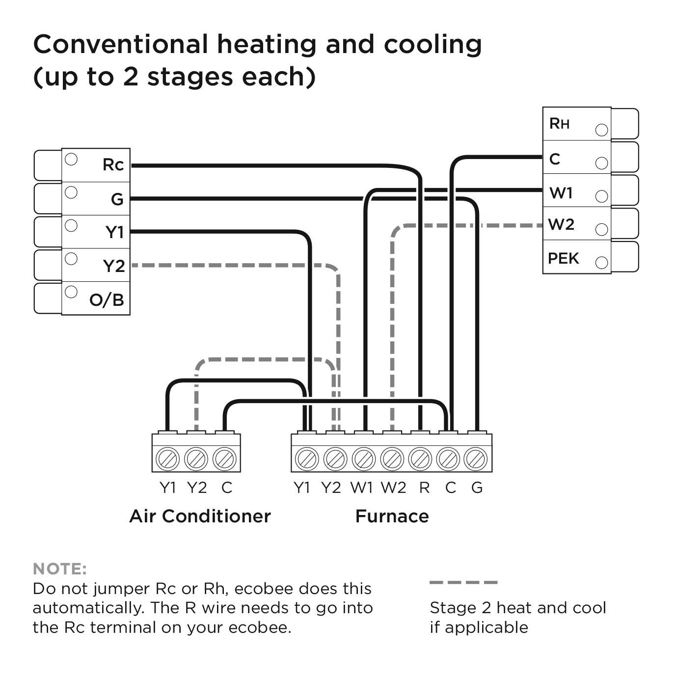 Ecobee3 Lite Wiring Diagrams – Ecobee Support - Ecobee3 Wiring Diagram