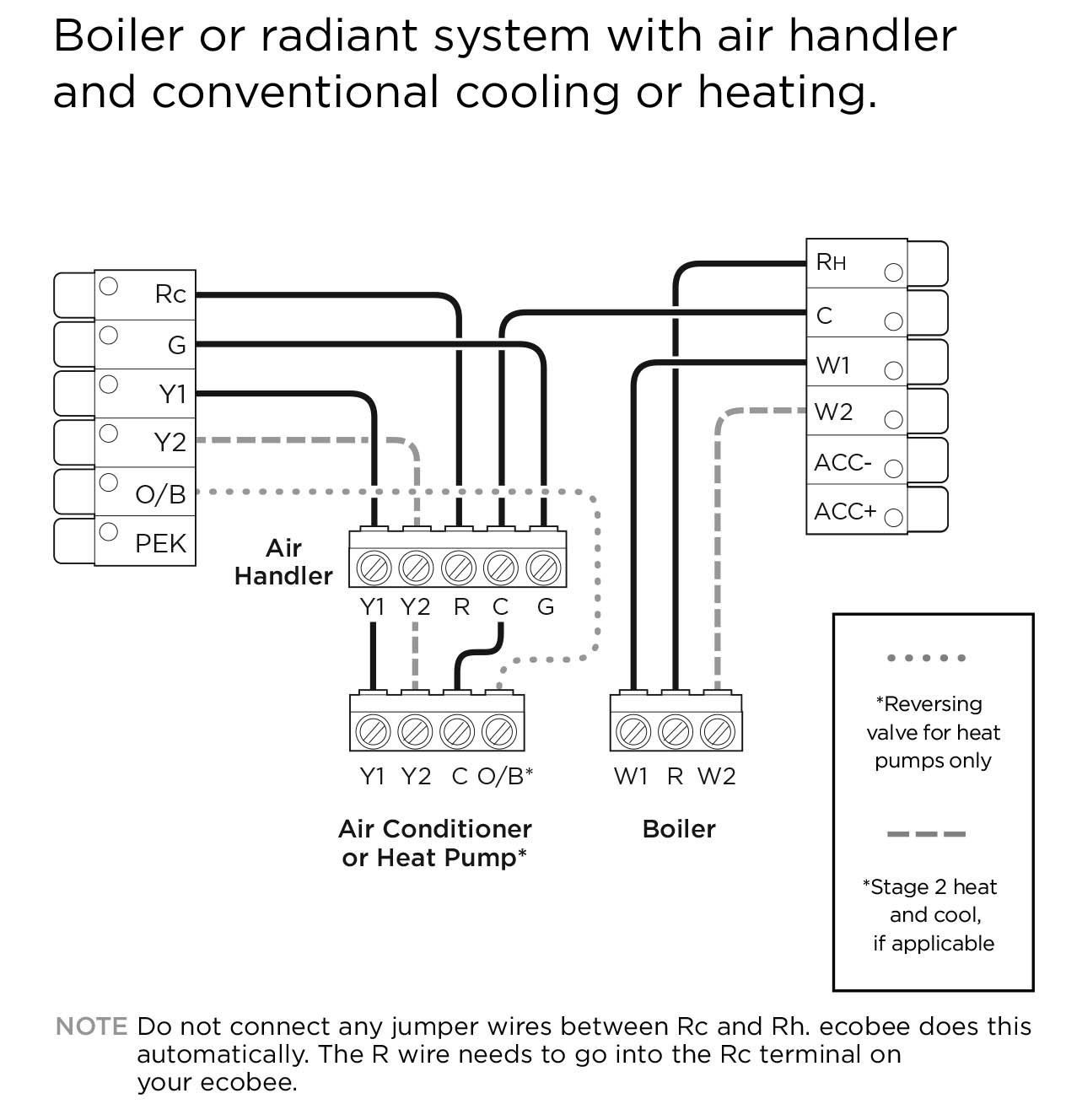 Ecobee4 Wiring Diagrams – Ecobee Support - Heat Pump Wiring Diagram