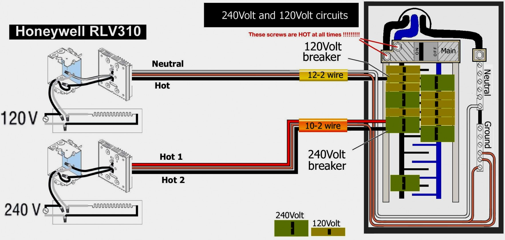 Electric Baseboard Heater Wiring Diagram For 220 | Manual E-Books - Baseboard Heater Wiring Diagram