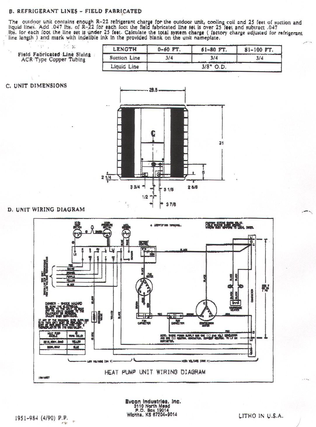 Electric Heat Pump Wiring Diagram   Wiring Diagram - Heat Pump Wiring Diagram Schematic