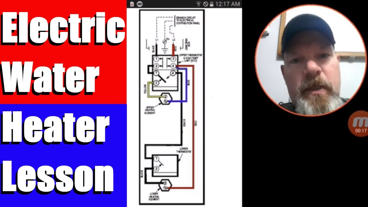 Electric Water Heater Lesson Wiring Schematic And Operation - Youtube - Water Heater Wiring Diagram