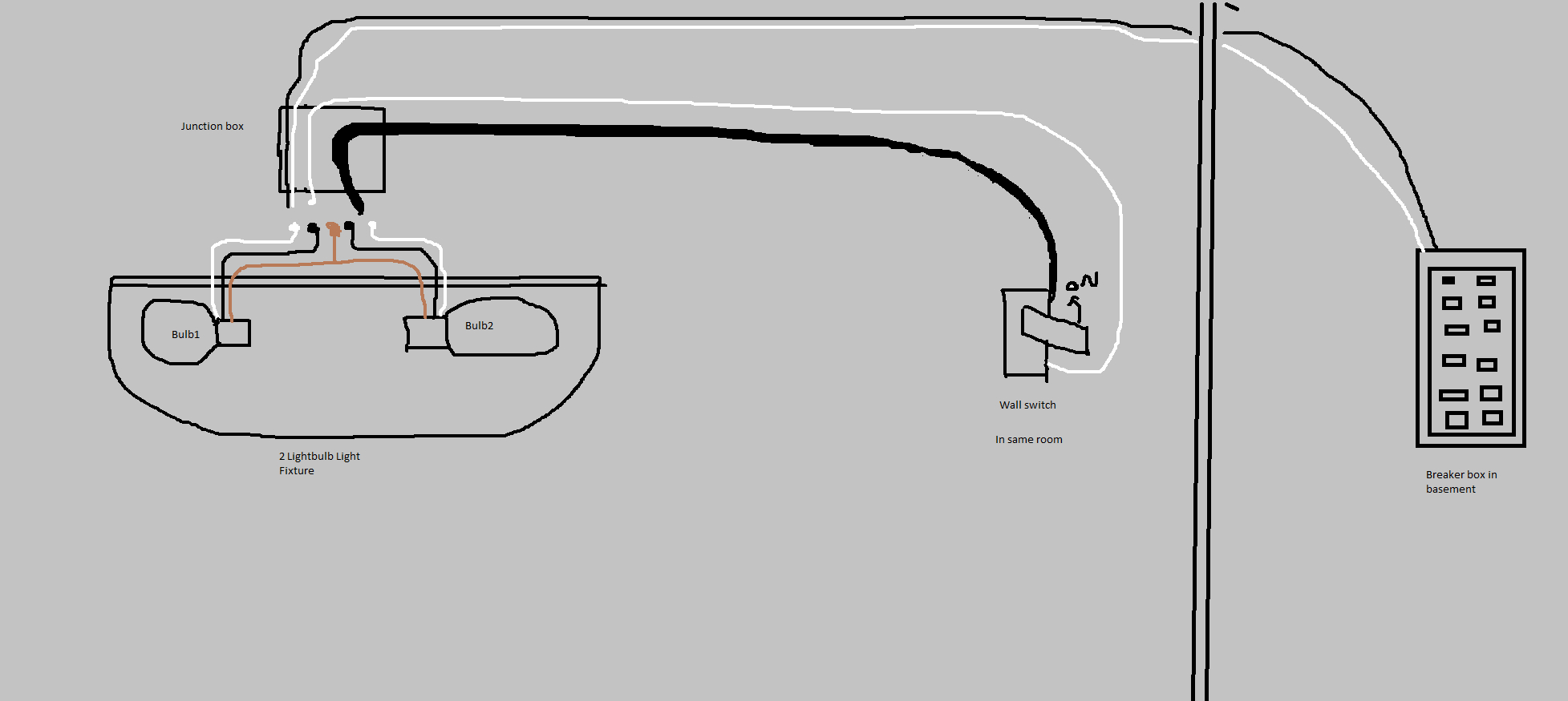 Electrical - A Light Fixture With 2 White, 2 Black Wires, 1 Copper - Junction Box Wiring Diagram