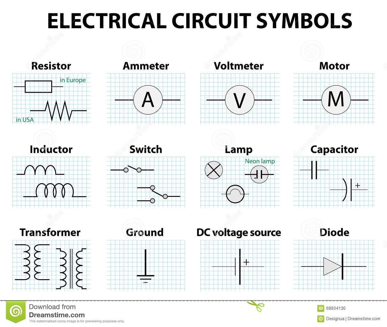 Electrical Diagram Schematic Symbols - Today Wiring Diagram - Electrical Wiring Diagram Symbols