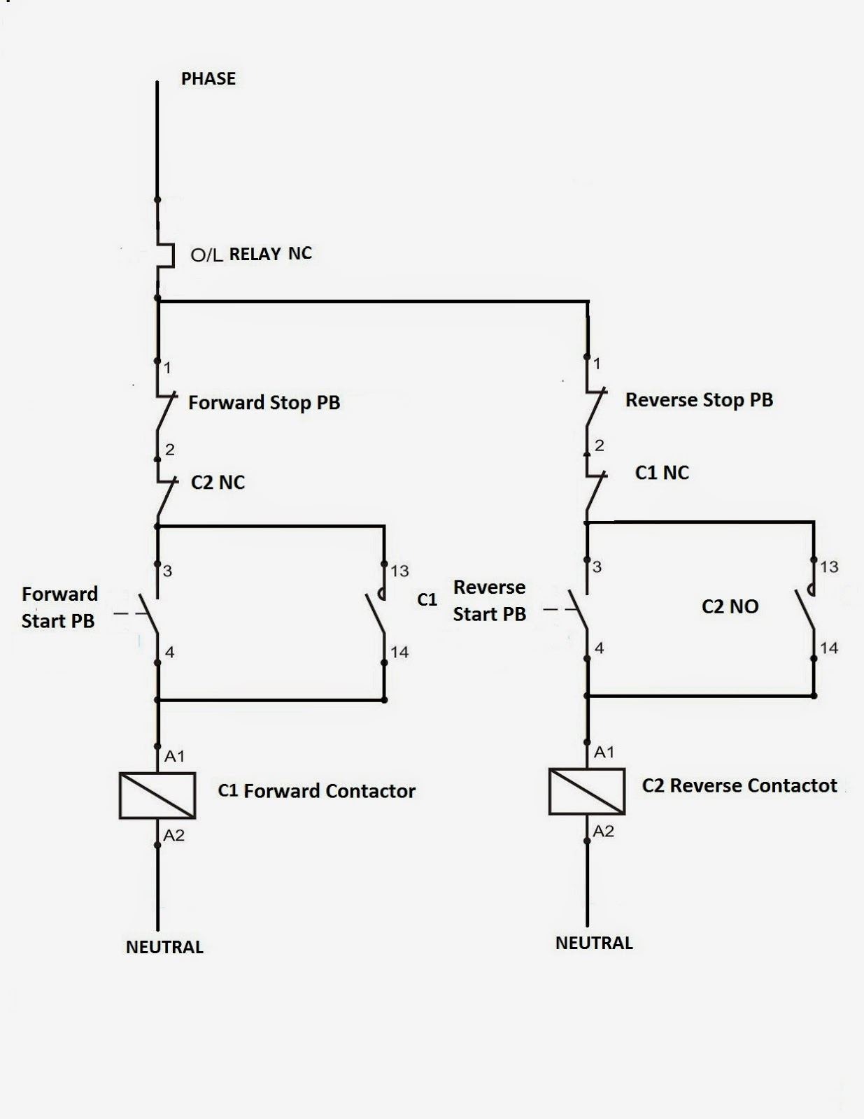 Electrical Standards: Direct Online Applications Reverse Forward - Motor Starter Wiring Diagram