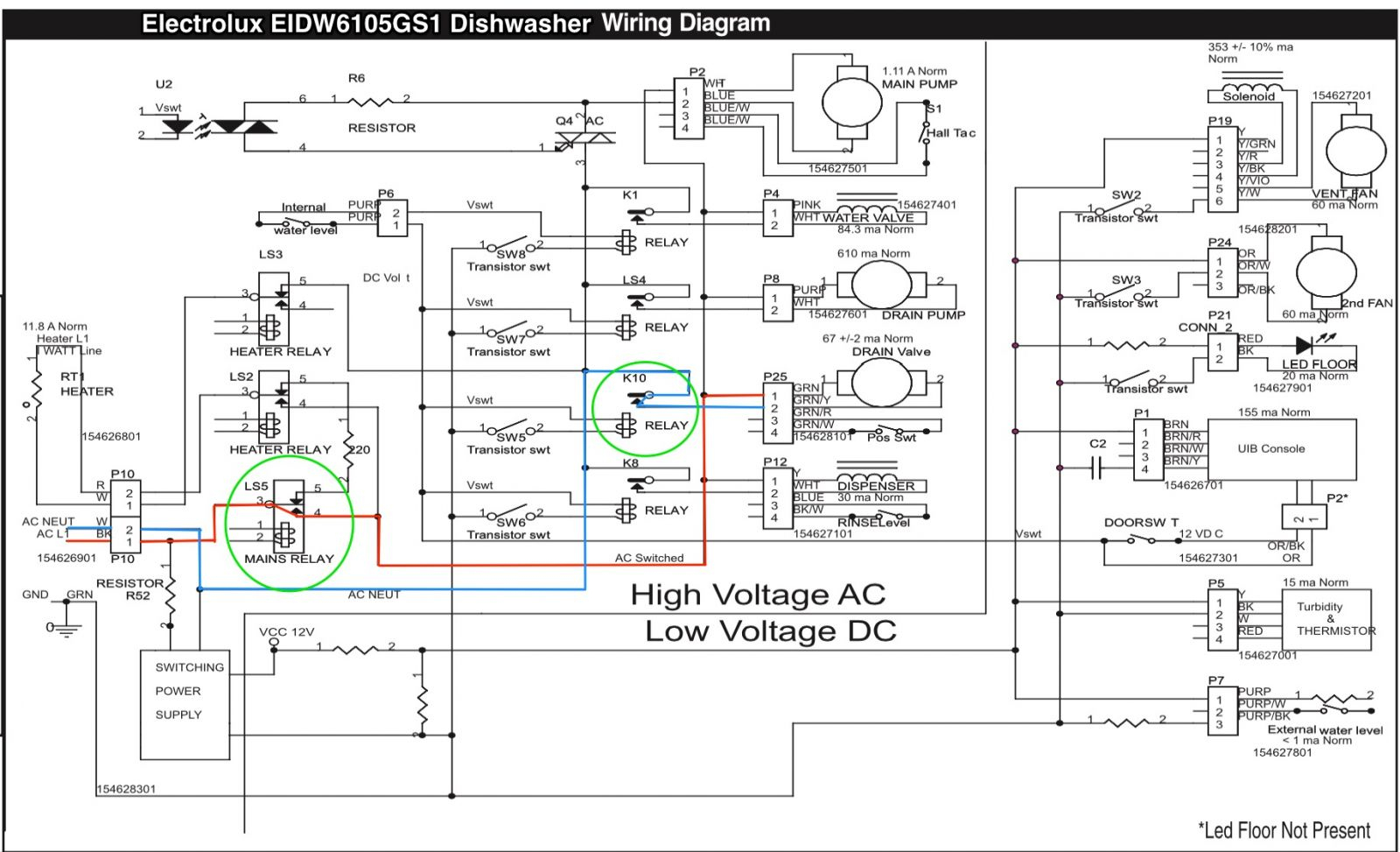Electrolux Eidw6105Gs1 Dishwasher Wiring Diagram - The Appliantology - Dishwasher Wiring Diagram