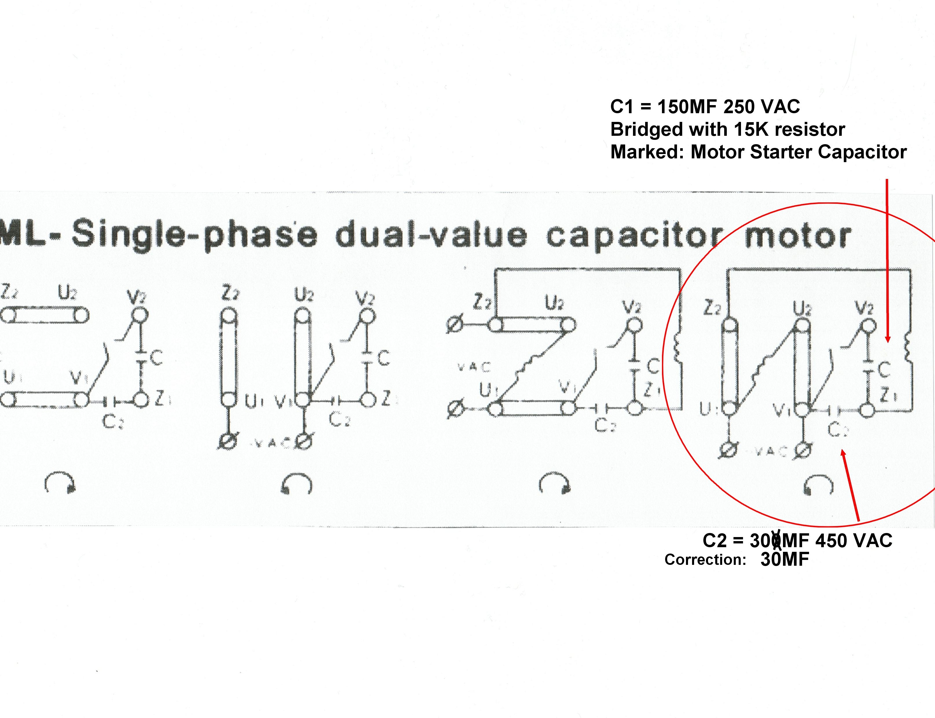 Emerson Motor Wiring 220 | Manual E-Books - Capacitor Wiring Diagram