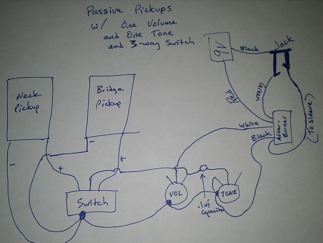 Emg Afterburner - My Guitar Projects - Emg 81 85 Wiring Diagram