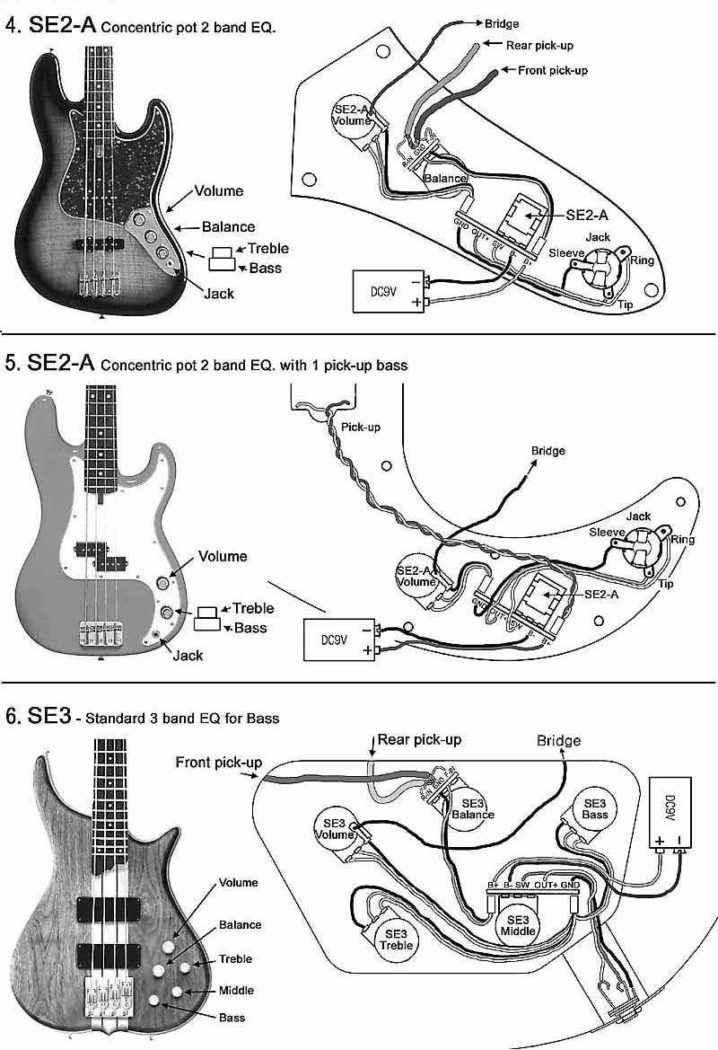 Epiphone Bass Guitar Wiring Diagram | Manual E-Books - Bass Guitar Wiring Diagram