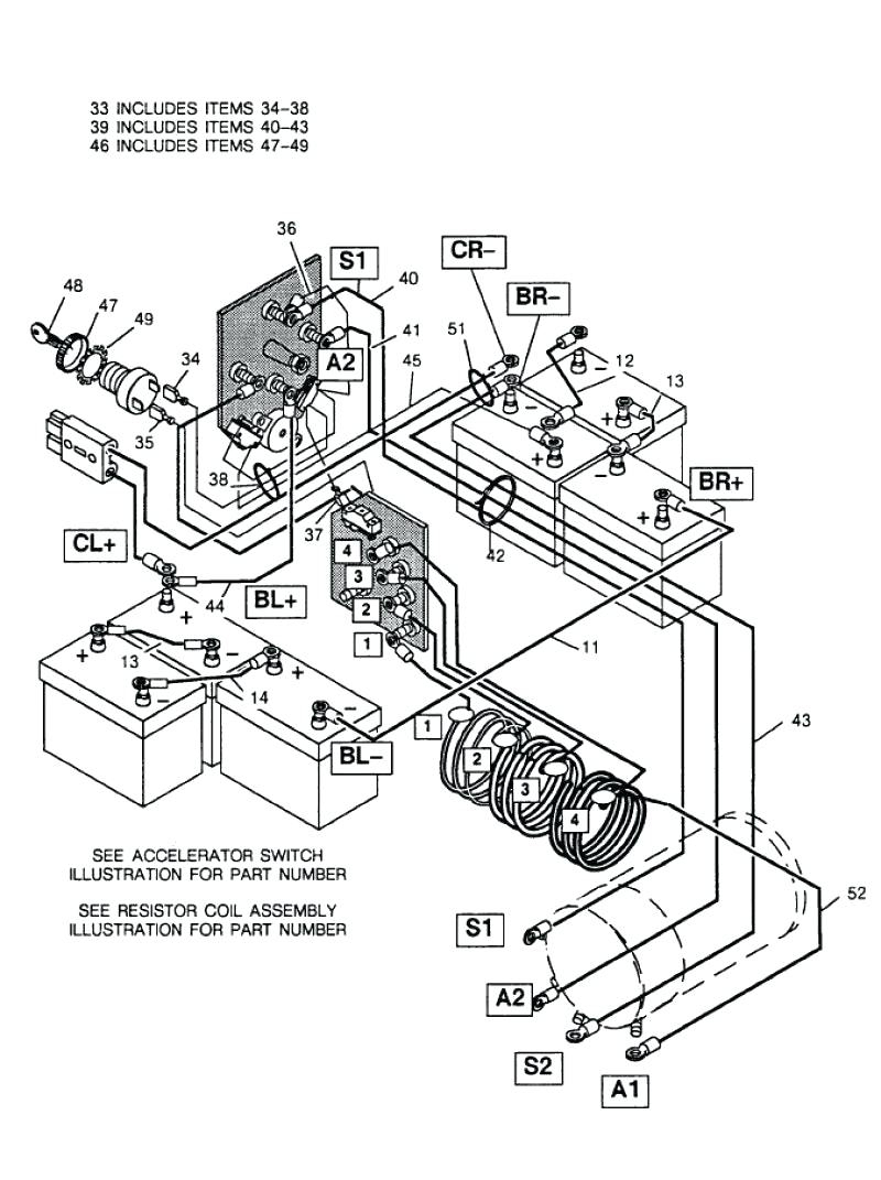 Ez Go Battery Wiring Diagram Serial 937884 | Wiring Diagram - E Z Go Golf Cart Batteries Wiring Diagram