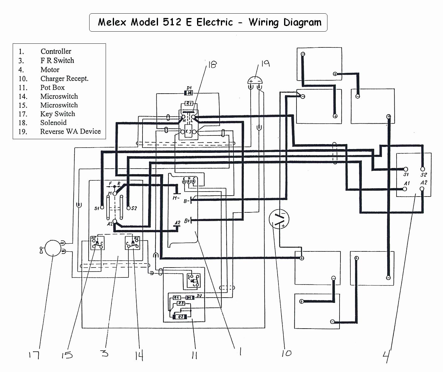 Ez Go Golf Cart Battery Wiring Diagram Inspirational 1991 Marathon - 36 Volt Golf Cart Wiring Diagram