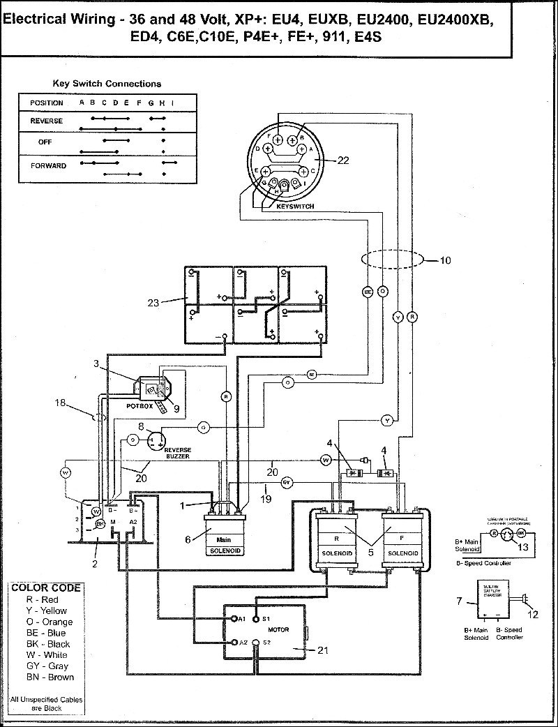 Ez Go Txt Battery Wiring Diagram