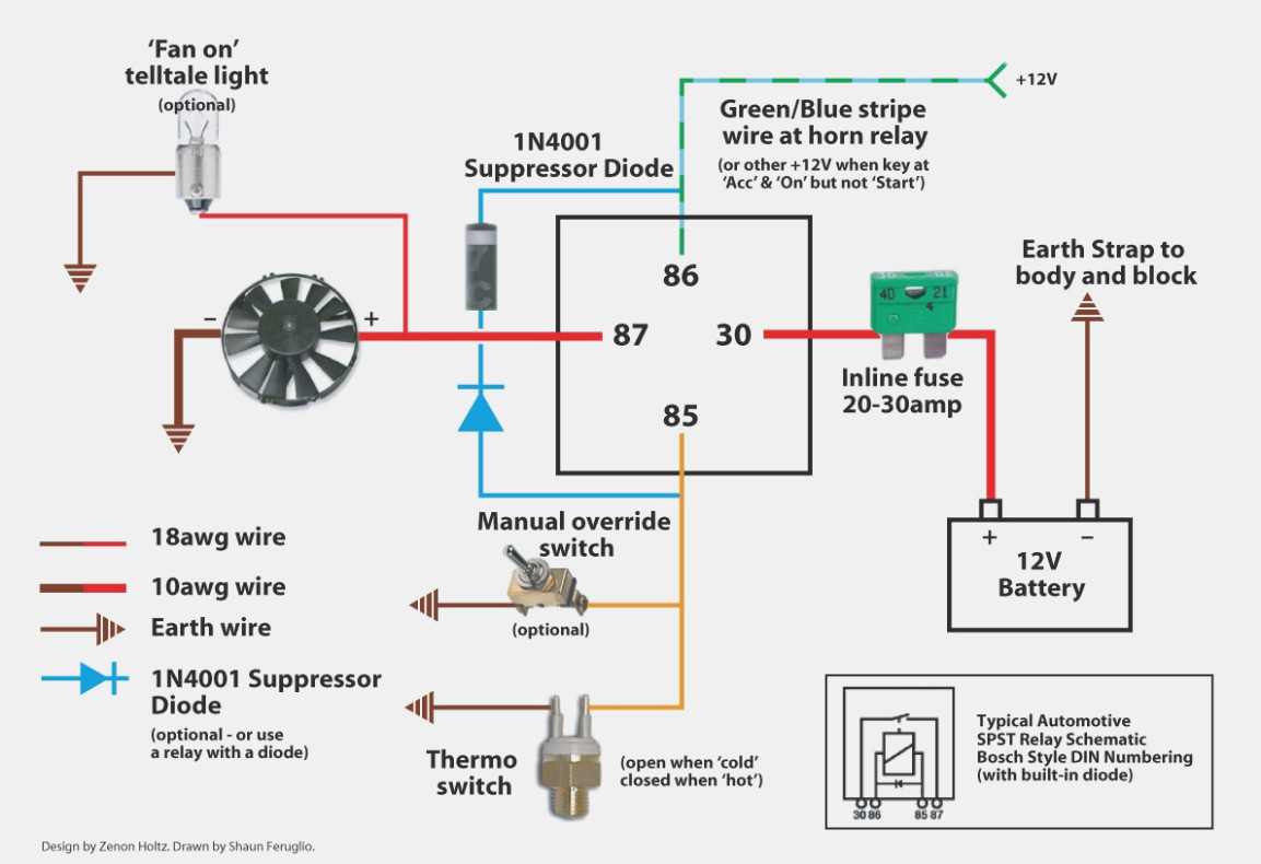Fan Relay Diagram - Wiring Diagrams Hubs - Electric Fan Relay Wiring Diagram