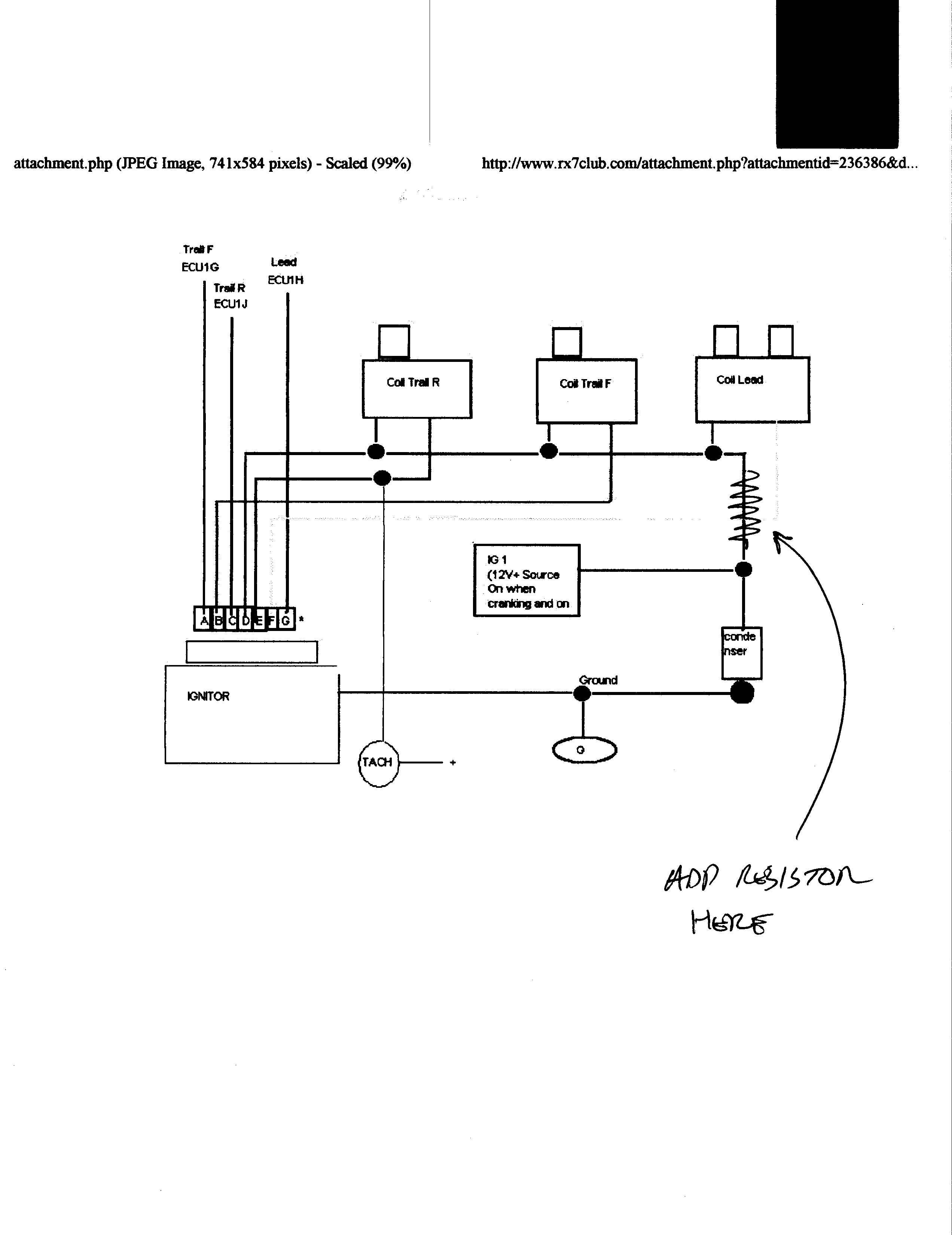 Fd Ignition, Coil Wiring Help Please - Rx7Club - Mazda Rx7 Forum - Ignition Coil Wiring Diagram