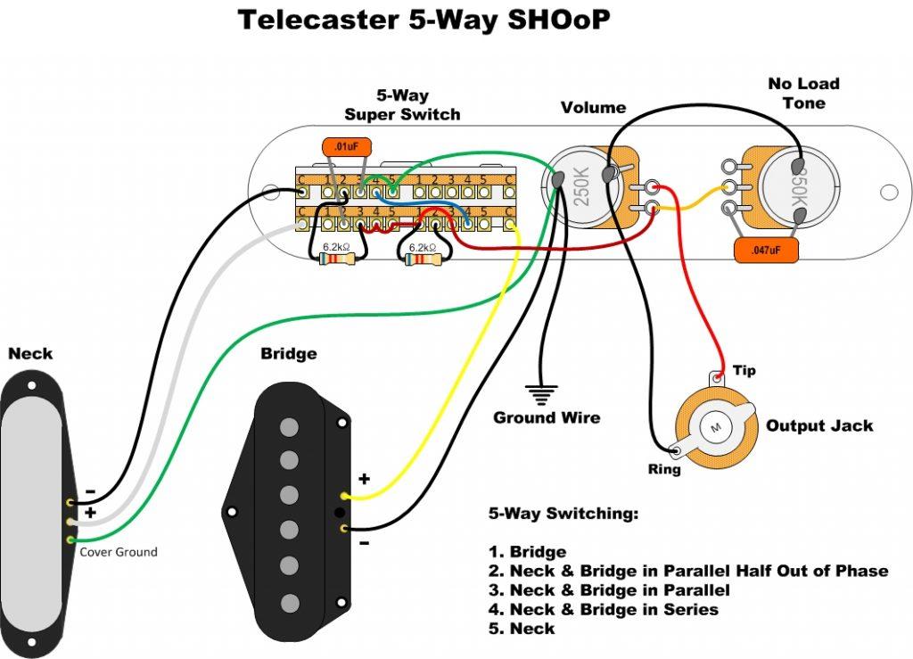 Tele Wiring Diagram on joe barden, humbucker neck single coil bridge, straight switch, humbucker neck, vintage fender, seymour duncan tapped,