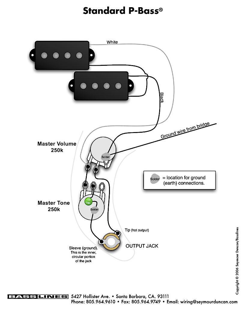 Fender Jack Wiring | Wiring Library - Fender P Bass Wiring Diagram