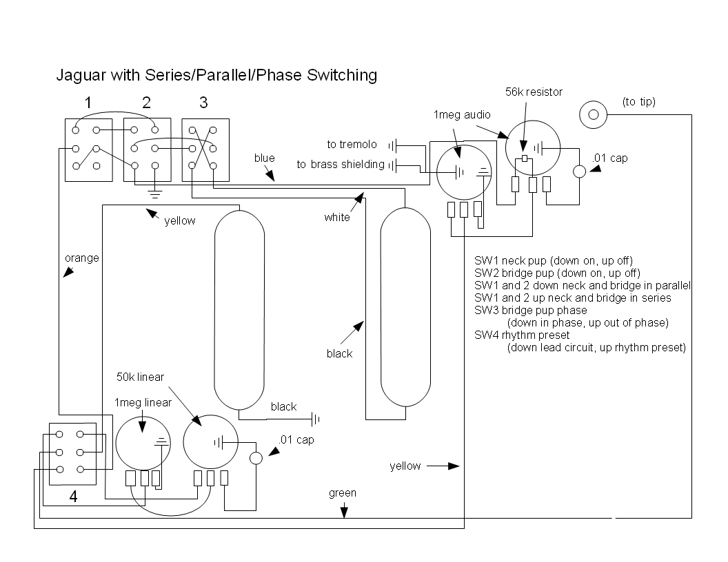 Fender Jaguar Wiring Diagram | Manual E-Books - Fender Jaguar Wiring Diagram