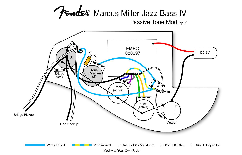 Fender Marcus Miller Jazz Bass Wiring Diagram   Wiring Diagram - Fender Jazz Bass Wiring Diagram