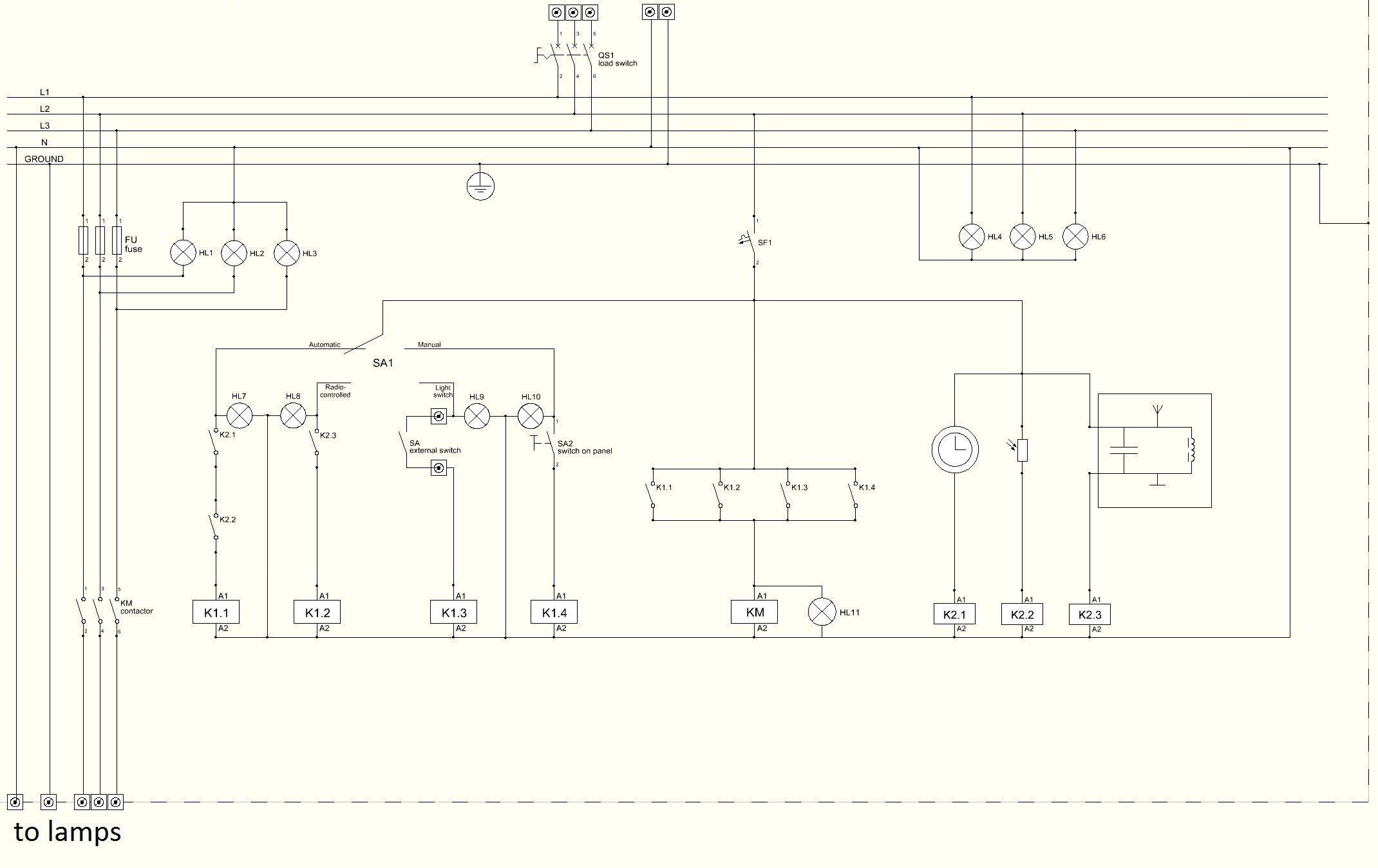 File:wiring Diagram Of Lighting Control Panel For Dummies - Lamp Wiring Diagram