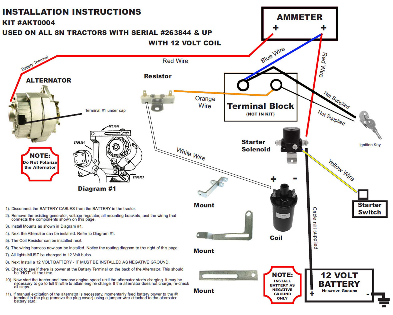 Ford 8N Alternator Conversion Diagram - Wiring Diagrams Hubs - 8N Ford Tractor Wiring Diagram