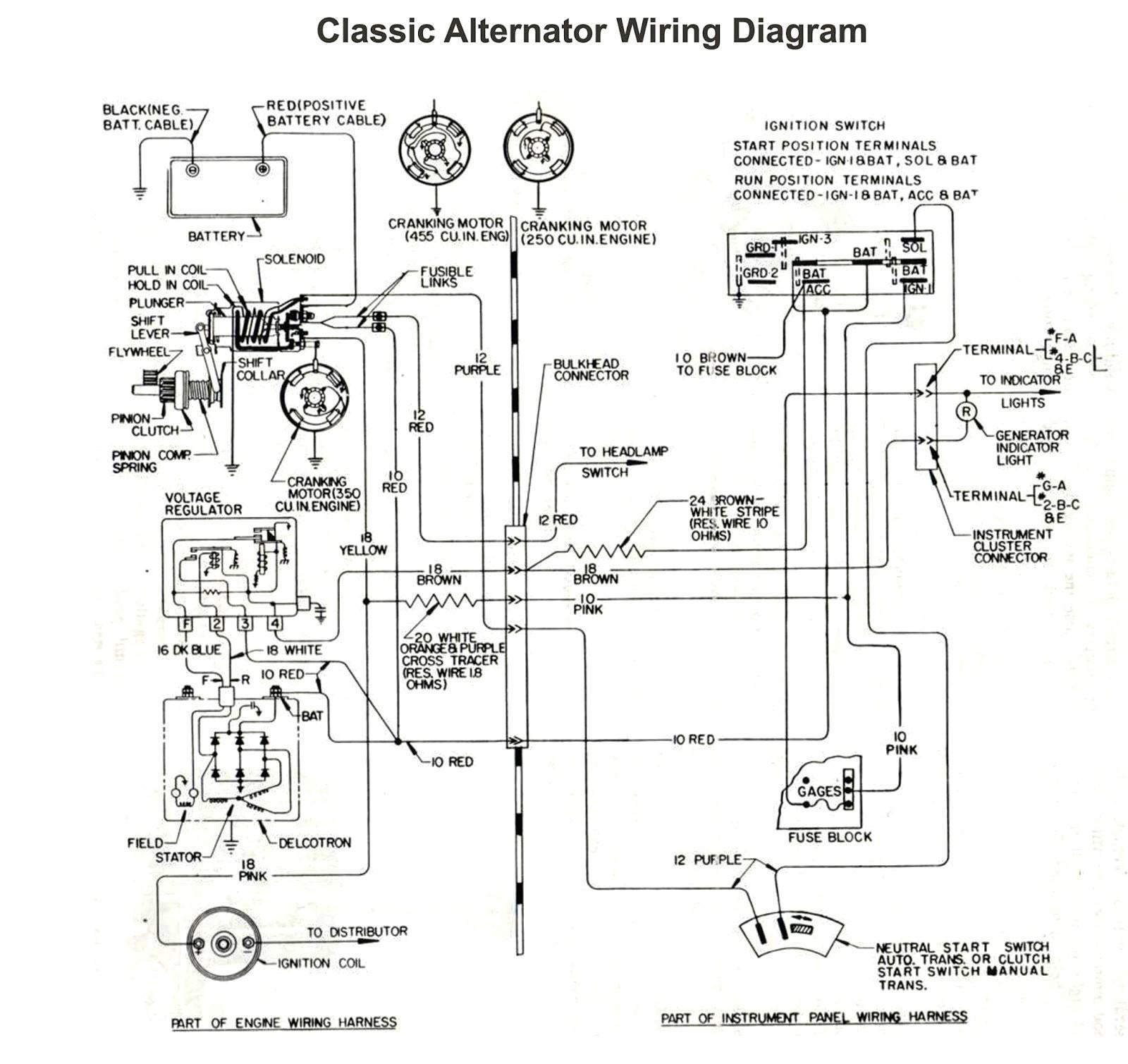 Ford Alternator Wiring Diagram Internal Regulator Inspirational - Ford Alternator Wiring Diagram Internal Regulator