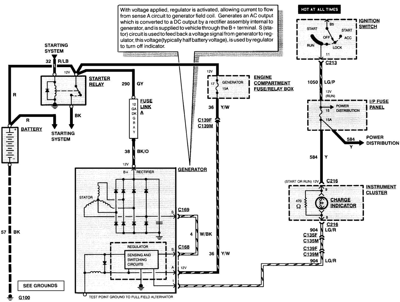 Ford Alternator Wiring Diagram No Regulator | Manual E-Books - Ford Alternator Wiring Diagram