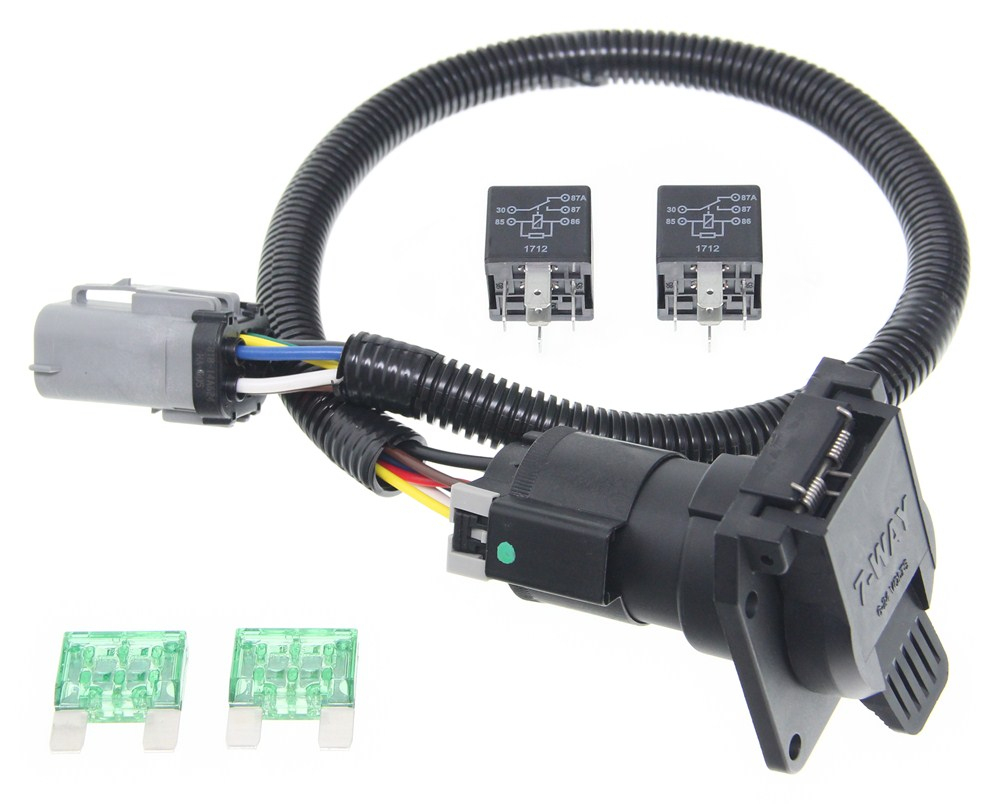 Ford Replacement Oem Tow Package Wiring Harness, 7-Way (Super Duty - Ford F350 Wiring Diagram For Trailer Plug