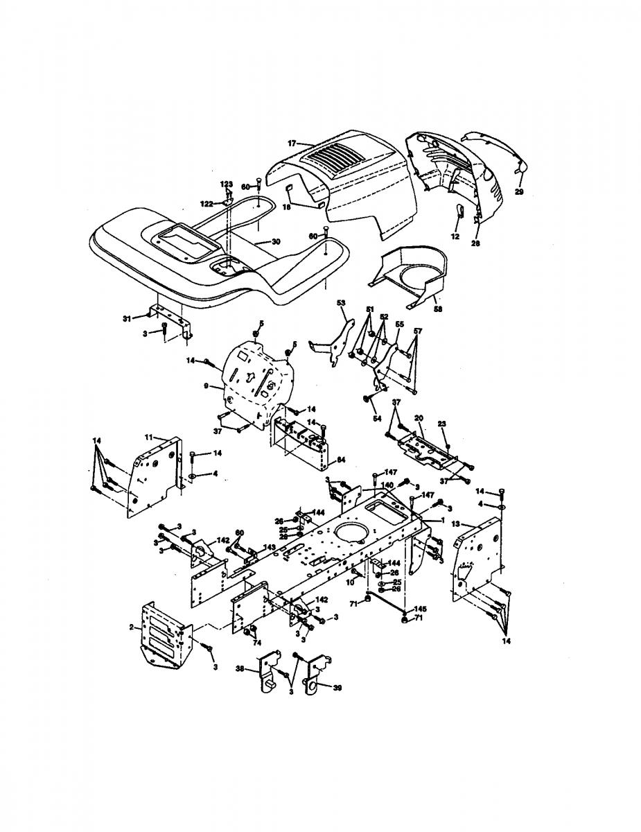 Fs5500 Craftsman Tractor Wiring Diagram | Wiring Library - Craftsman Lawn Mower Model 917 Wiring Diagram